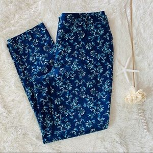 White House Black Market Floral Slim Ankle Pants 6